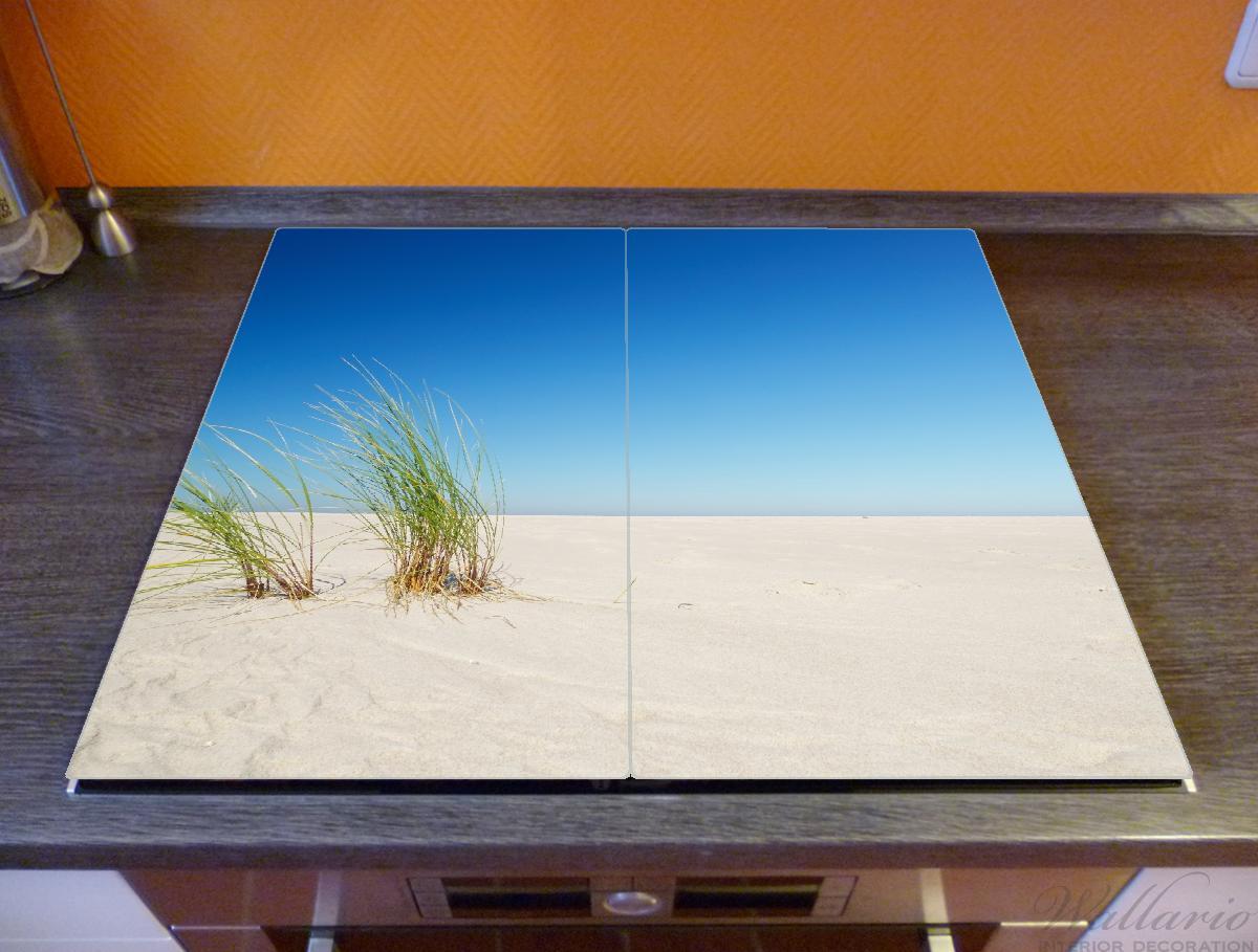 Herdabdeckplatte Sandstrand unter blauem Himmel – Bild 2