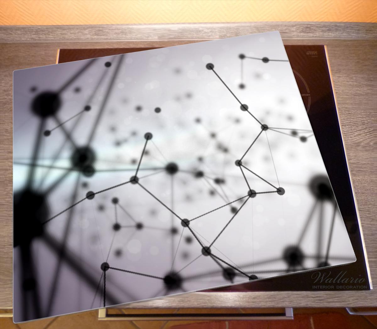Herdabdeckplatte 3D Partikel in schwarz vor hellem Hintergrund – Bild 2