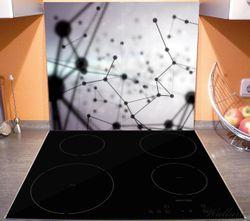Herdabdeckplatte 3D Partikel in schwarz vor hellem Hintergrund – Bild 3