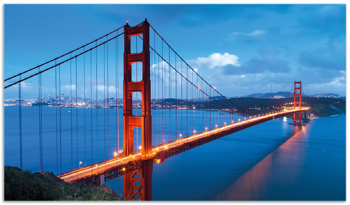 Herdabdeckplatte Golden Gate Bridge in San Francisco  USA – Bild 1