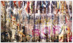 Herdabdeckplatte Bemalte Holzplanken mit alter Schrift – Bild 1