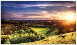 Herdabdeckplatte Farbenfroher Sonnenuntergang in England – Bild 1