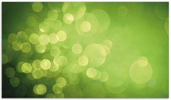 Herdabdeckplatte Abstrakte grüne Kreise  grüne Lichtpunkte – Bild 1