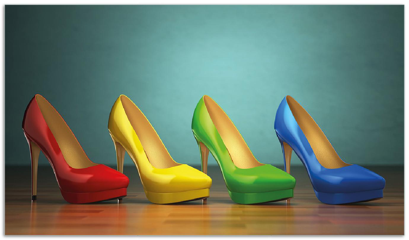 Herdabdeckplatte Bunte Schuhe - High Heels für Frauen – Bild 1