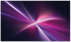 Herdabdeckplatte Abstrakte Formen und Linien  schwarz lila pink weiß – Bild 1