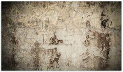 Herdabdeckplatte Alte schmutzige Wand aus Beton mit abblätternder Farbe – Bild 1