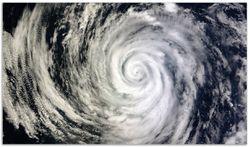 Herdabdeckplatte Hurrikan von oben - Spiralförmiger Wirbelsturm – Bild 1