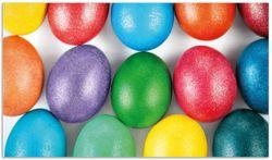 Herdabdeckplatte Bunte Oster-Eier in Nahaufnahme mit kräftigen Farben – Bild 1