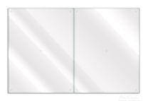 Herdabdeckplatte transparent - durchsichtig 001