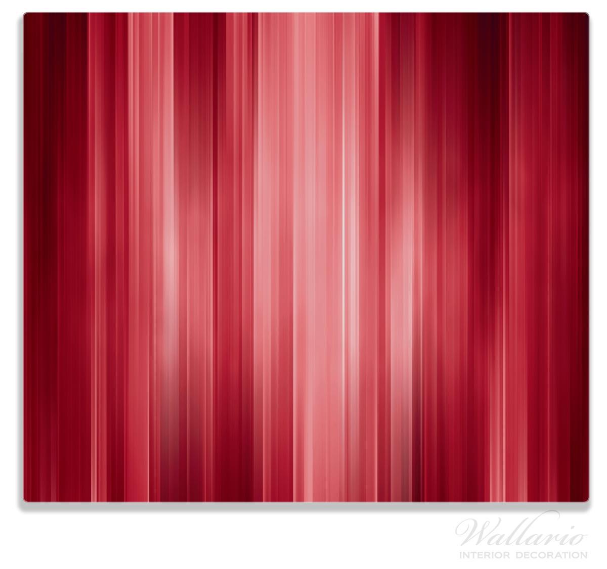 Herdabdeckplatte Rot und schwarz gestreift - Abstraktes Streifenmuster – Bild 1