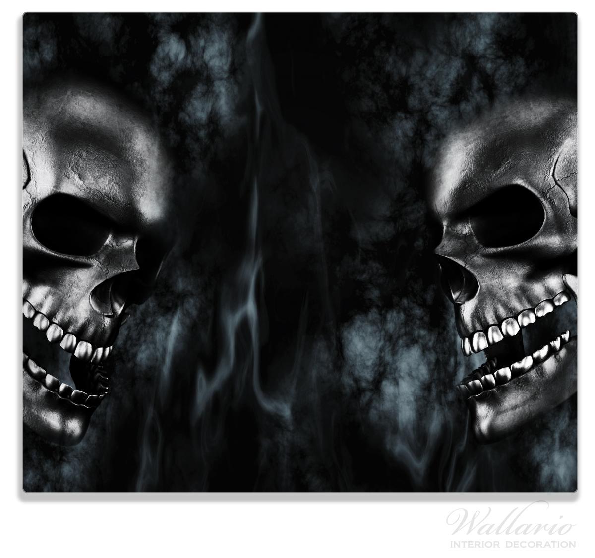 Herdabdeckplatte Rauchende Schädel