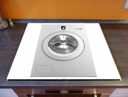 Herdabdeckplatte Waschmaschine Frontlader von vorn – Bild 2