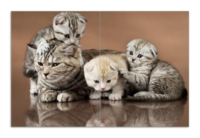 Herdabdeckplatte Katzenfamilie – Bild 1