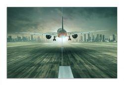 Herdabdeckplatte Startendes Flugzeug - Landebahn – Bild 1