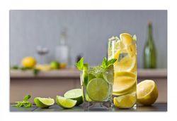 Herdabdeckplatte Cocktails mit Limetten und Zitronen – Bild 1