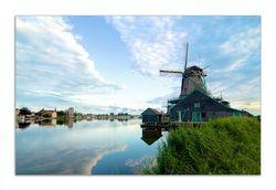 Herdabdeckplatte Alte Windmühle an einem Fluss – Bild 1