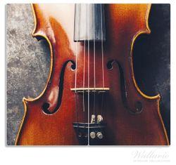 Herdabdeckplatte Nahaufnahme einer alten Violine – Bild 1