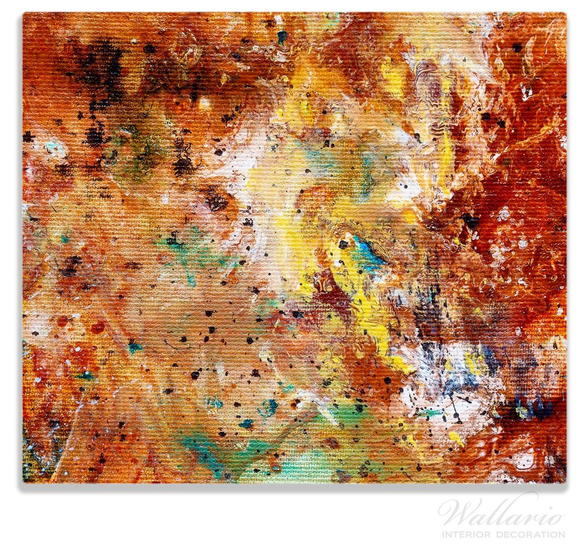 Herdabdeckplatte Künstlerische bunte Leinwand - Farbkleckse und Tupfer – Bild 1