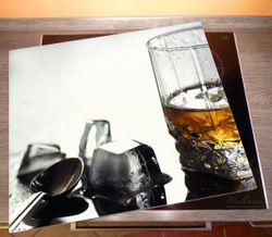 Herdabdeckplatte Whiskey on the Rocks – Bild 2