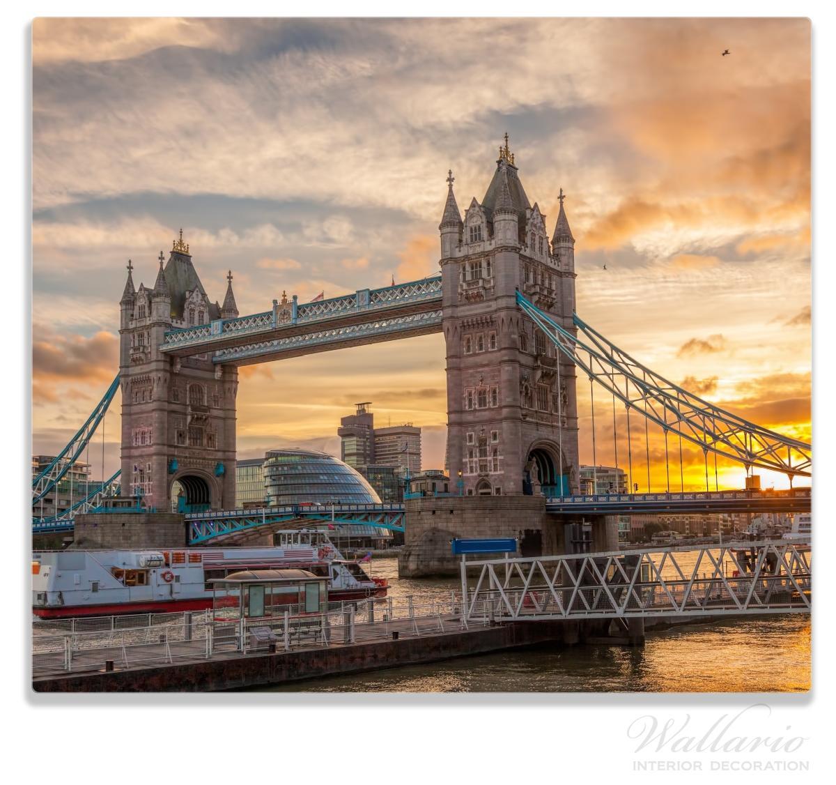 Herdabdeckplatte Tower Bridge - London bei Sonnenuntergang – Bild 1