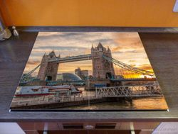 Herdabdeckplatte Tower Bridge - London bei Sonnenuntergang – Bild 2