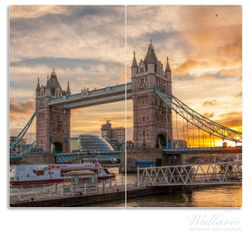 Herdabdeckplatte Tower Bridge - London bei Sonnenuntergang – Bild 1