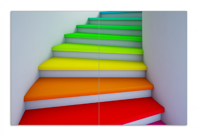 Herdabdeckplatte Bunte Treppe – Bild 1