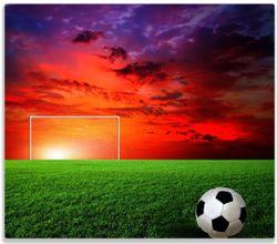 Herdabdeckplatte Fußball - Fußballfeld bei Sonnenuntergang – Bild 1
