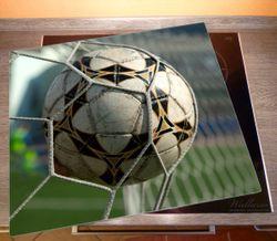 Herdabdeckplatte Fußball - Ball im Tor - Bolzplatz – Bild 2