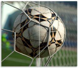 Herdabdeckplatte Fußball - Ball im Tor - Bolzplatz – Bild 1