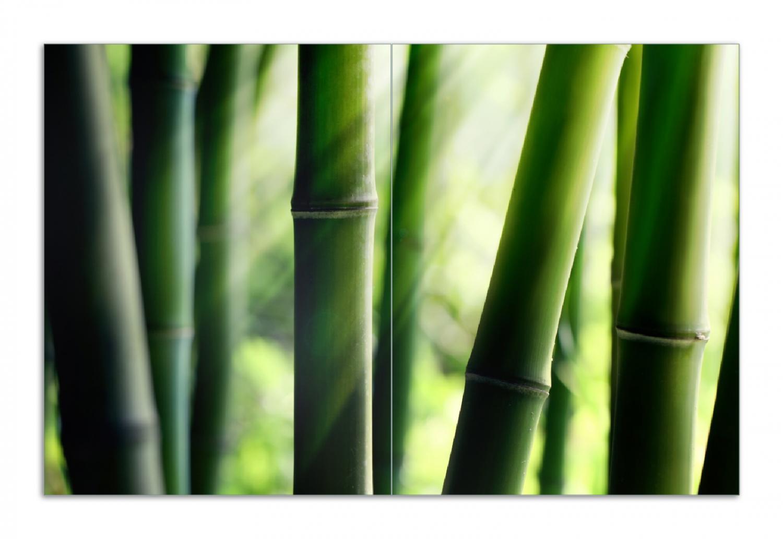 Herdabdeckplatte Bambuswald und Sonnenstrahlen – Bild 1