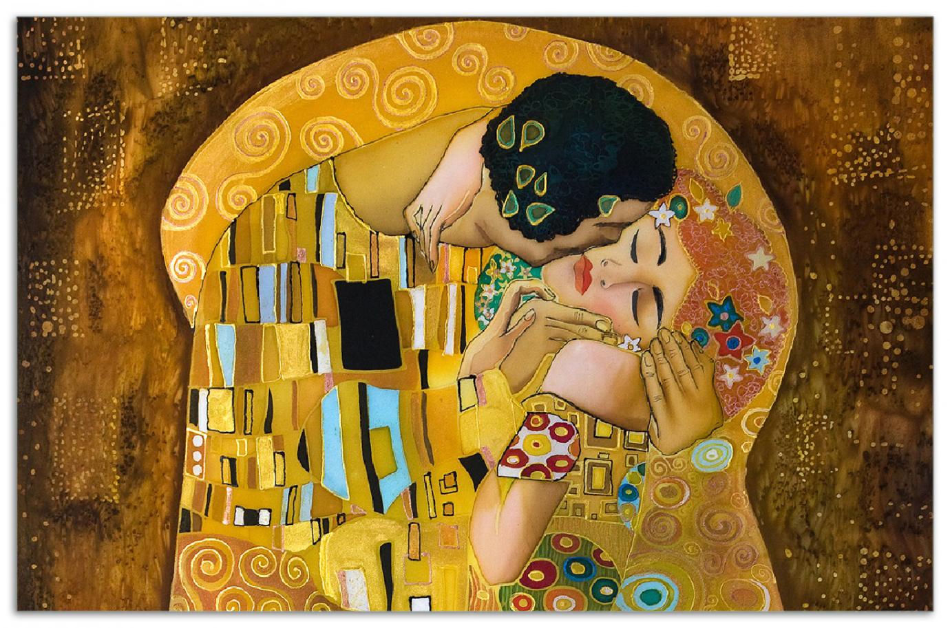 Herdabdeckplatte Der Kuss von Klimt – Bild 1