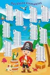 Poster Das kleine Einmaleins mit dem Piraten