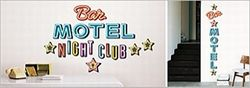 Wandsticker Neon Schrift Bar Night Club Motel – Bild 2
