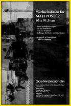 Zubehör Wechselrahmen Maxi-Poster 61 x 91,5 Gelb 001