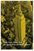 Poster New York - City Quote - Empire State Building mit Zitat 001