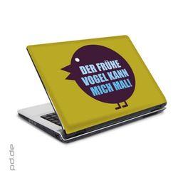 """Laptop Sticker 15,4"""" Früher Vogel"""