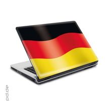 "Laptop Sticker 10"" Schwarz Rot Gold 001"