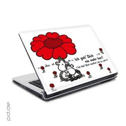 "Laptop Sticker 10"" sheepworld - geb dich nie"