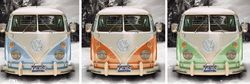 Poster Californian Camper - triptych