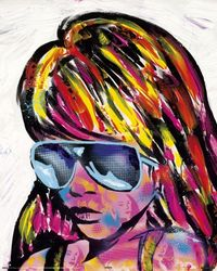Poster Frank E Hollywood - sunglasses