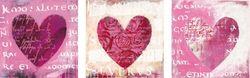 Wandaufkleber 3er Set Herzen – Bild 1