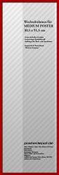 Zubehör Wechselrahmen 30,5 x 91,5 cm Rot – Bild 1