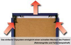 Zubehör Wechselrahmen 40 x 50 cm Platin – Bild 3
