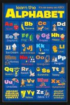Poster Learn the Alphabet (schwarz gerahmt) 001