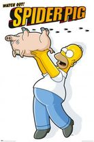 Poster Homer Simpson - spiderpig 001