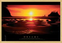 Poster Sunset- Dreams (natur gerahmt) 001