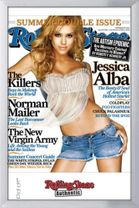 Poster Rolling Stone Cover - Jessica Alba (silber gerahmt) 001