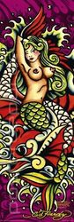 Poster Ed Hardy - mermaid