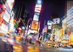Poster New York Times Square bei Nacht USA